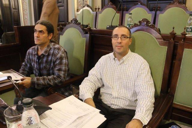 Sergi Talamonte y Carlos González, concejales de el Comú de Lleida