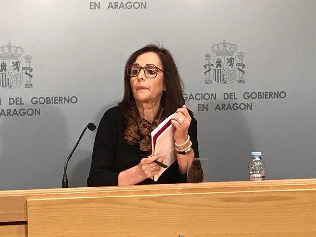 La delegada del Gobierno en Aragón, Carmen Sánchez.
