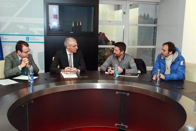 Reunión do Comité de Empresa de Alcoa A Coruña co conselleiro de Economía
