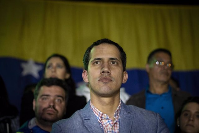President of the Venezuelan assembly leads rally in Caracas