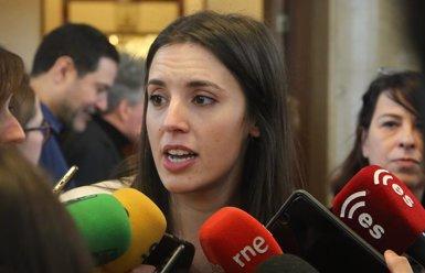 """Irene Montero arremet contra Errejón i l'acusa d'enganyar la militància per """"pactar un pla secret"""" amb Carmena (Ricardo Rubio - Europa Press)"""