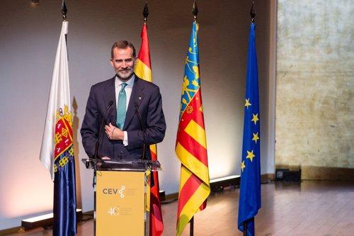 El Rey Felipe VI preside el acto central conmemorativo del 40+1 Aniversario de la Confederación Empresarial de la Comunidad Valenciana