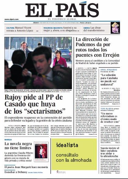 Las portadas de los periódicos del sábado 19 de enero de 2019
