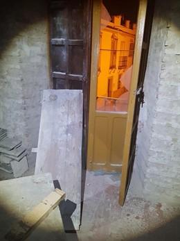 Edificio en el que un presunto ladrón entró a robar