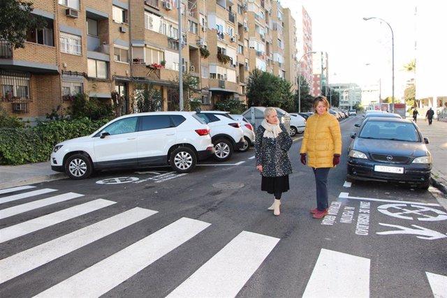 Calle Urquiza con nuevo pavimento