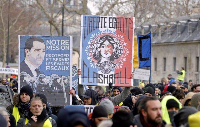 Manifestación de los 'chalecos amarillos' en París