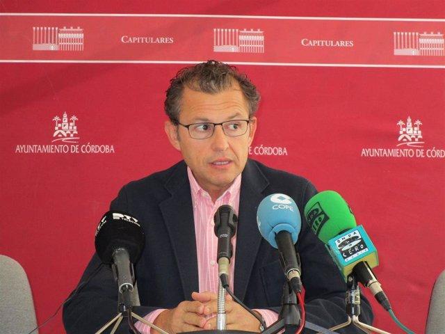 El portavoz de Cs en el Ayuntamiento de Córdoba, David Dorado.