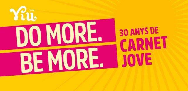 Cartel 'Do More. Be More' del Carnet Jove