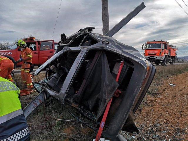 Accidente de coche en Utiel