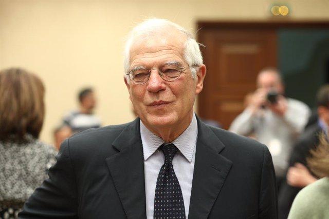 EL MINISTRO DE ASUNTOS EXTERIORES, JOSEP BORREL, COMPARECE EN LA COMISIÓN DE ASU