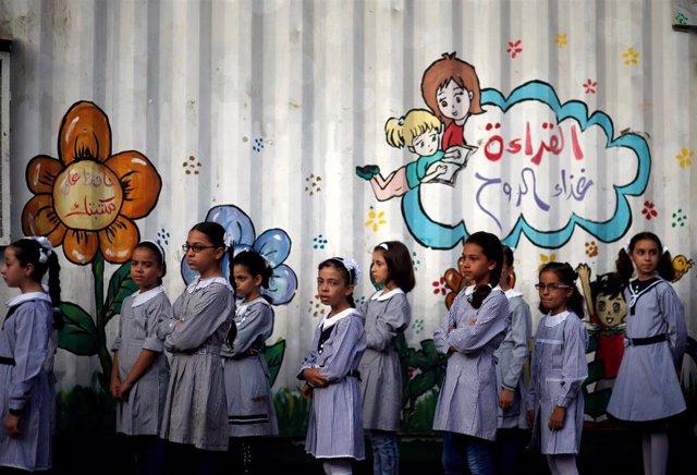 Escuela de la UNRWA en la Franja de Gaza