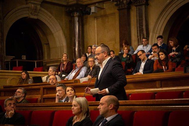 Quim Torra compareix en el ple del Parlament