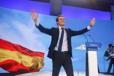 "Casado alerta contra els ""imitadors"": ""Qui vulgui que governi el PP ha de votar al PP"" (Ricardo Rubio - Europa Press)"