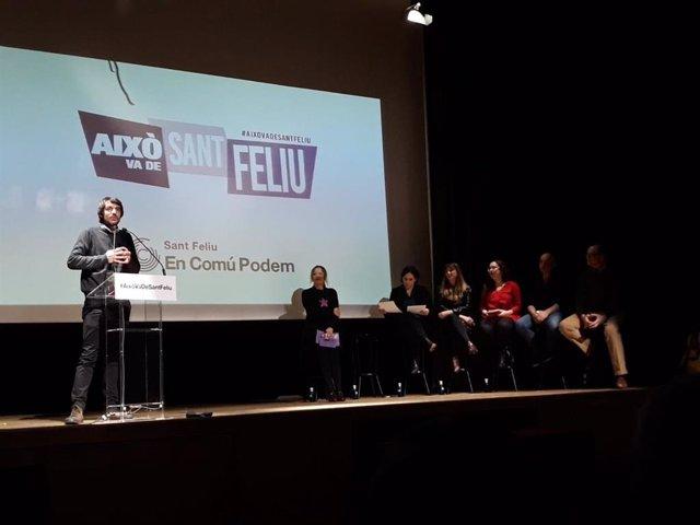 Presentació de la candidata a l'Alcaldia de Sant Feliu Lídia Muñoz