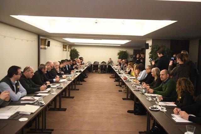 Reunión de JxCat y Carles Puigdemont