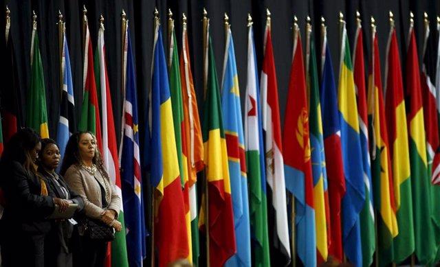 Banderas de los países miembros de la Unión Africana