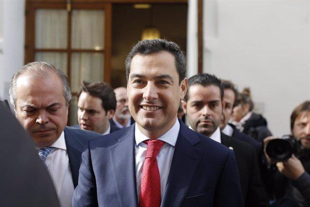Finaliza el acto de d toma de posesión de Juanma Moreno como presidente de la Ju