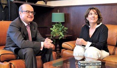 La ministra Delgado i el president del TSJC es reuneixen al Palau de Justícia a Barcelona (Europa Press)