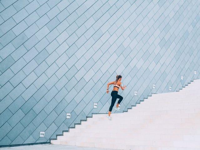 Resistencia, ejercicio, esfuerzo, deporte, escaleras