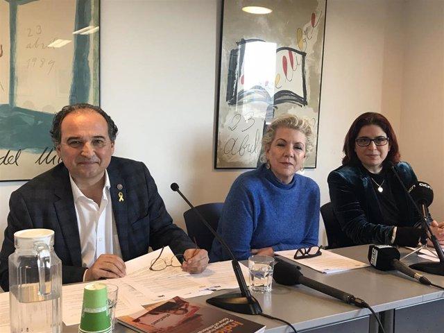 Carles Torner, Jennifer Clement y Àngels Gregori