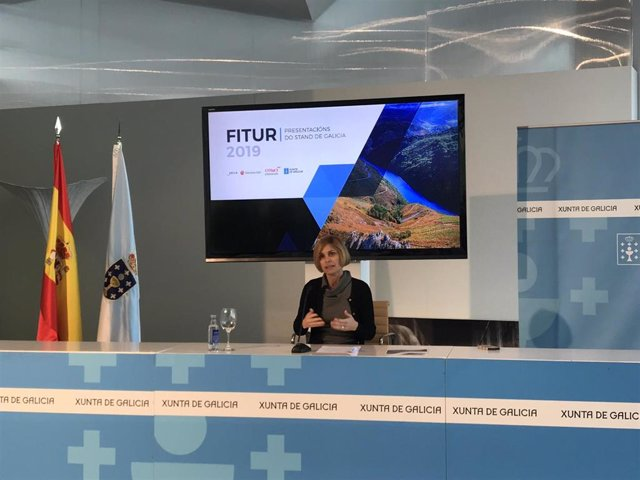 Nava Castro presenta el stand de Galicia en Fitur