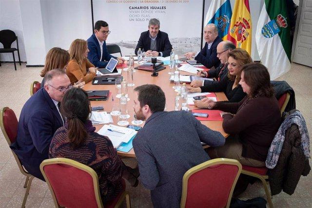 Consejo de Gobierno de Canarias en La Graciosa