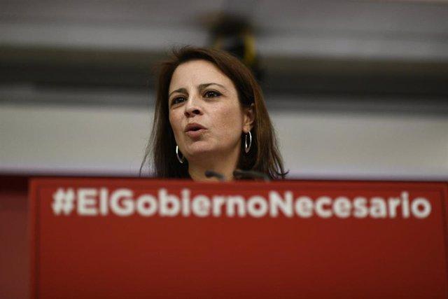 Rueda de prensa del PSOE tras la reunión de la Comisión Ejecutiva Federal del pa