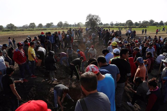 Búsqueda de restos tras la explosión de un oleoducto en Tlahuelilpan
