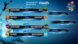 Barça-València, Reial Madrid-Estudiantes, Baskonia-Joventut i Tenerife-Unicaja, duels de quarts (ACB)