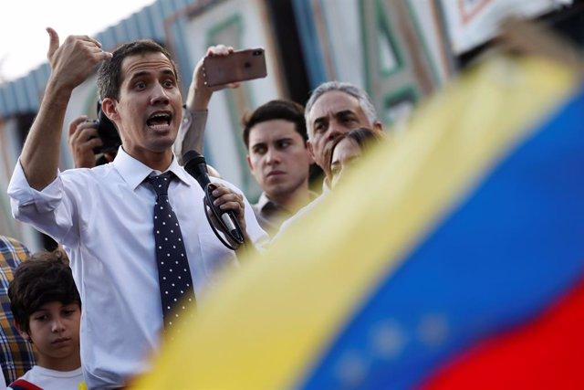 El presidente de la Asamblea Nacional, Juan Guaidó