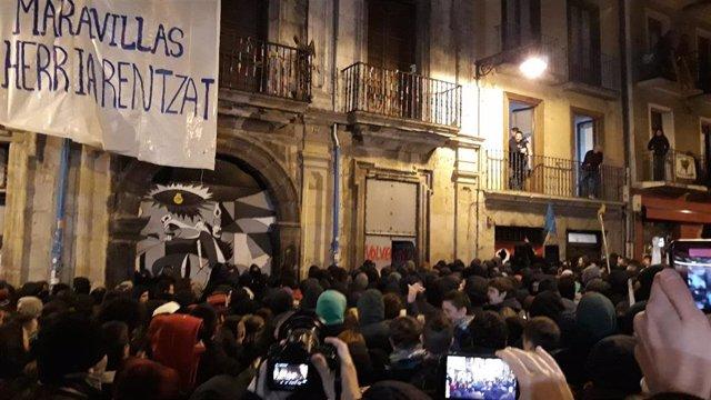 Vuelven a ocupar el Palacio Marqués de Rozalejo de Pamplona