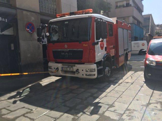 Camió dels Bombers de la Generalitat.