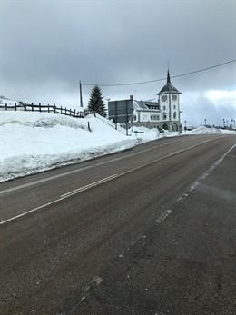 Nieve en Pajares en una imagen de archivo.