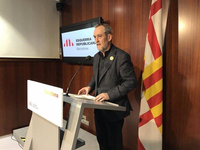 El regidor d'ERC, Jordi Coronas.