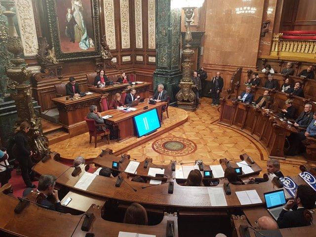 Ple de l'Ajuntament de Barcelona.