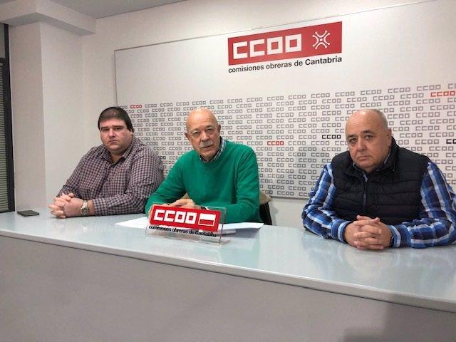 Rueda de prensa de CC.OO sobre gestión de Autovía del Agua y planes hidráulicos