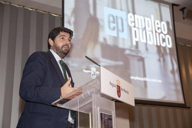El presidente del Gobierno regional, Fernando López Miras