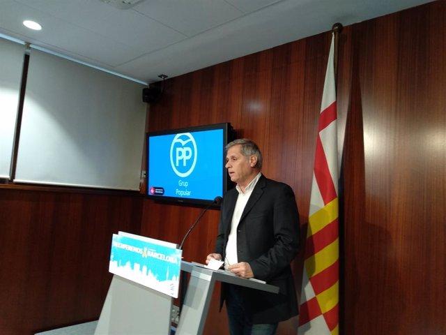El líder del PP a l'Ajuntament de Barcelona, Alberto Fernández