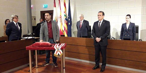 7. Rubén Estévez toma posesión como nuevo diputado provincial del grupo En Común en la DPZ