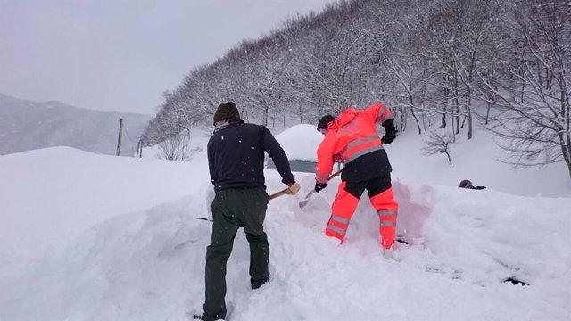 Incidencias, nieve Cantabria, 112, temporal