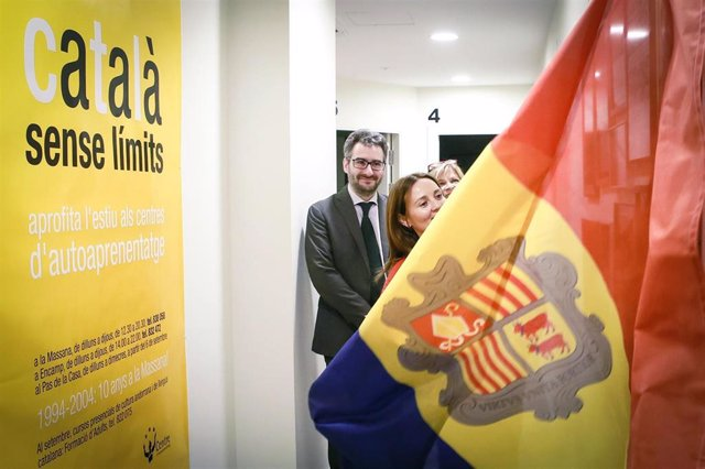 Olga Gelabert (ministra de Cultura, Andorra), Eric Jover (ministro de Educación)