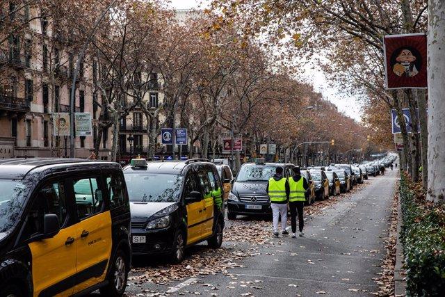 Marxa dels taxistes de Barcelona