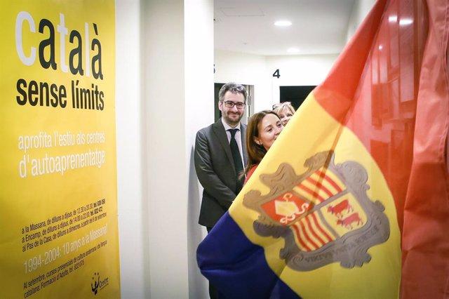 Olga Gelabert (ministra de Cultura, Andorra), Eric Jover (ministre d'Educació)