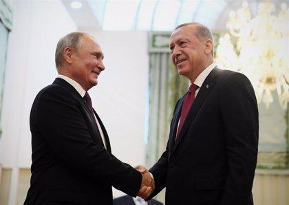 Putin recibirá a Erdogan en Moscú para mantener conversaciones sobre Siria