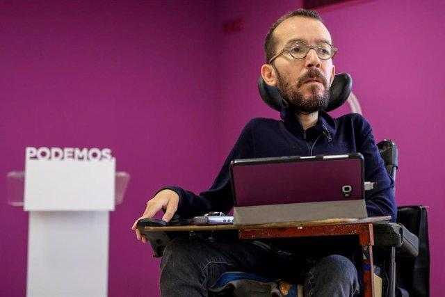 Entrevista de Europa Press al secretario de Organización de Podemos, Pablo Echen