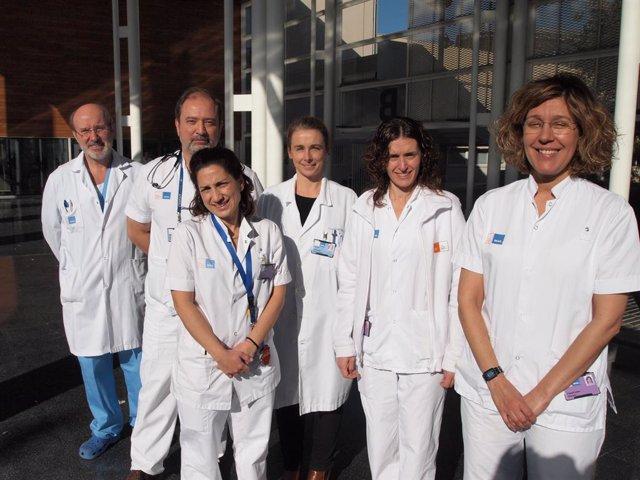 Equip de rehabilitació cardíaca de l'Hospital del Mar de Barcelona.