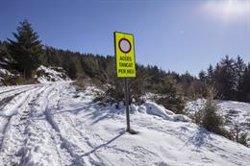 La neu afecta la circulació a 25 vies de Lleida, Barcelona i Girona (@TRANSIT)