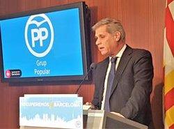 Alberto Fernández (PP) diu que Forn va renunciar a Barcelona quan va dimitir d'edil per ser conseller (EUROPA PRESS)