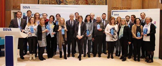 Entrega de premios de BBVA a proyectos sociales de Euskadi