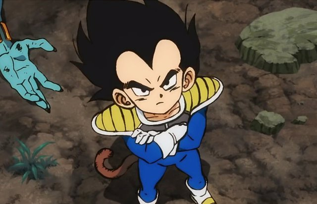 Vegeta de niño en Dragon Ball